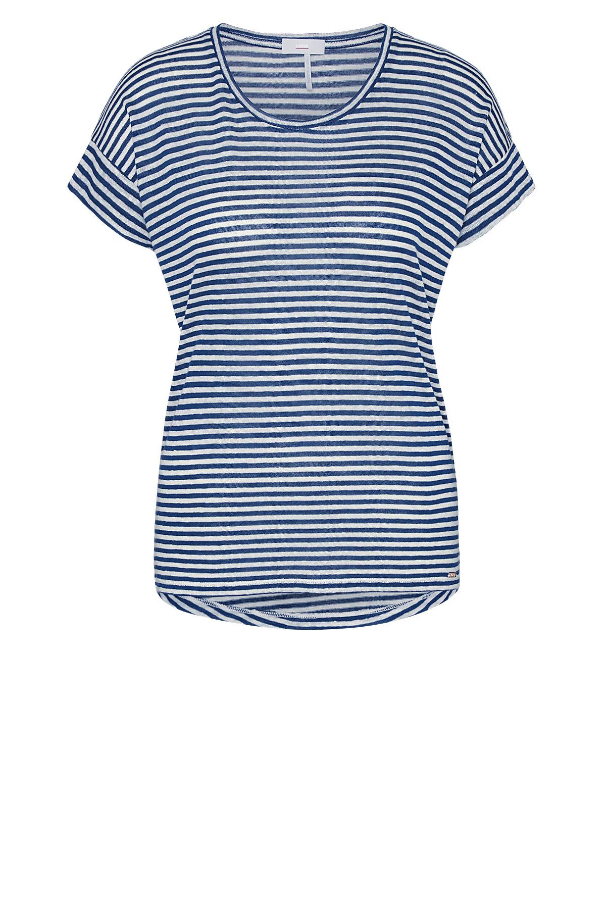 Cinque kurzarm Shirt blau gestreift