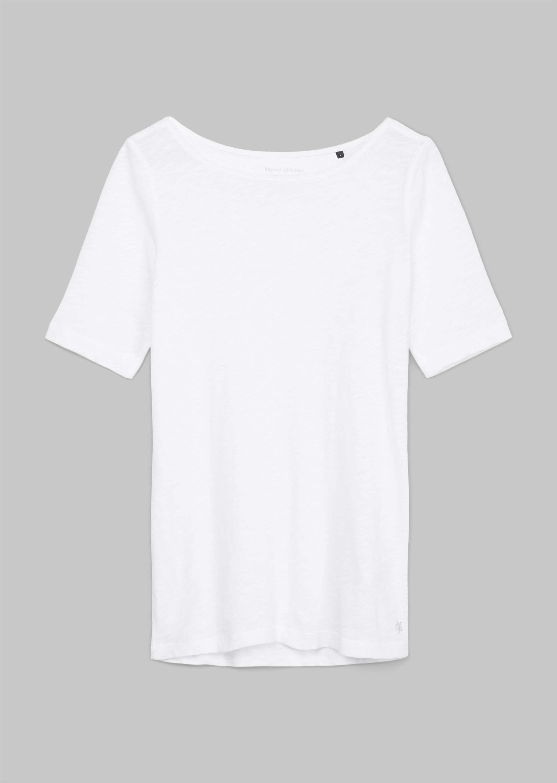 Marc 'O Polo kurzarm Shirt aus Baumwolle weiß