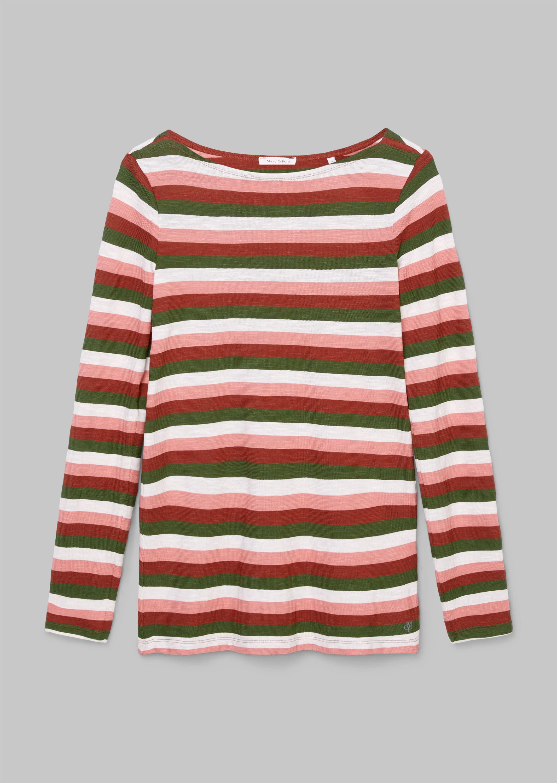 Marc 'O Polo langarm Shirt aus Baumwolle mehrfarbig gestreift