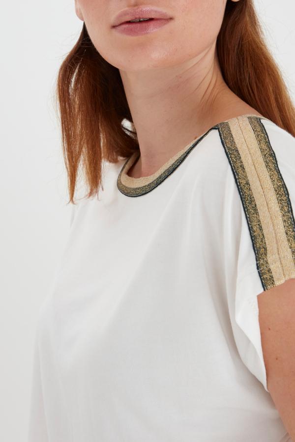 b.Young kurzarm Jerseyshirt weiß