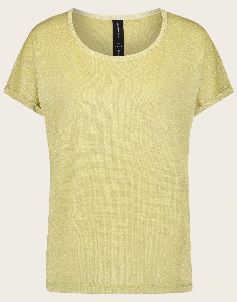 Jane Lushka kurzarm Shirt gold
