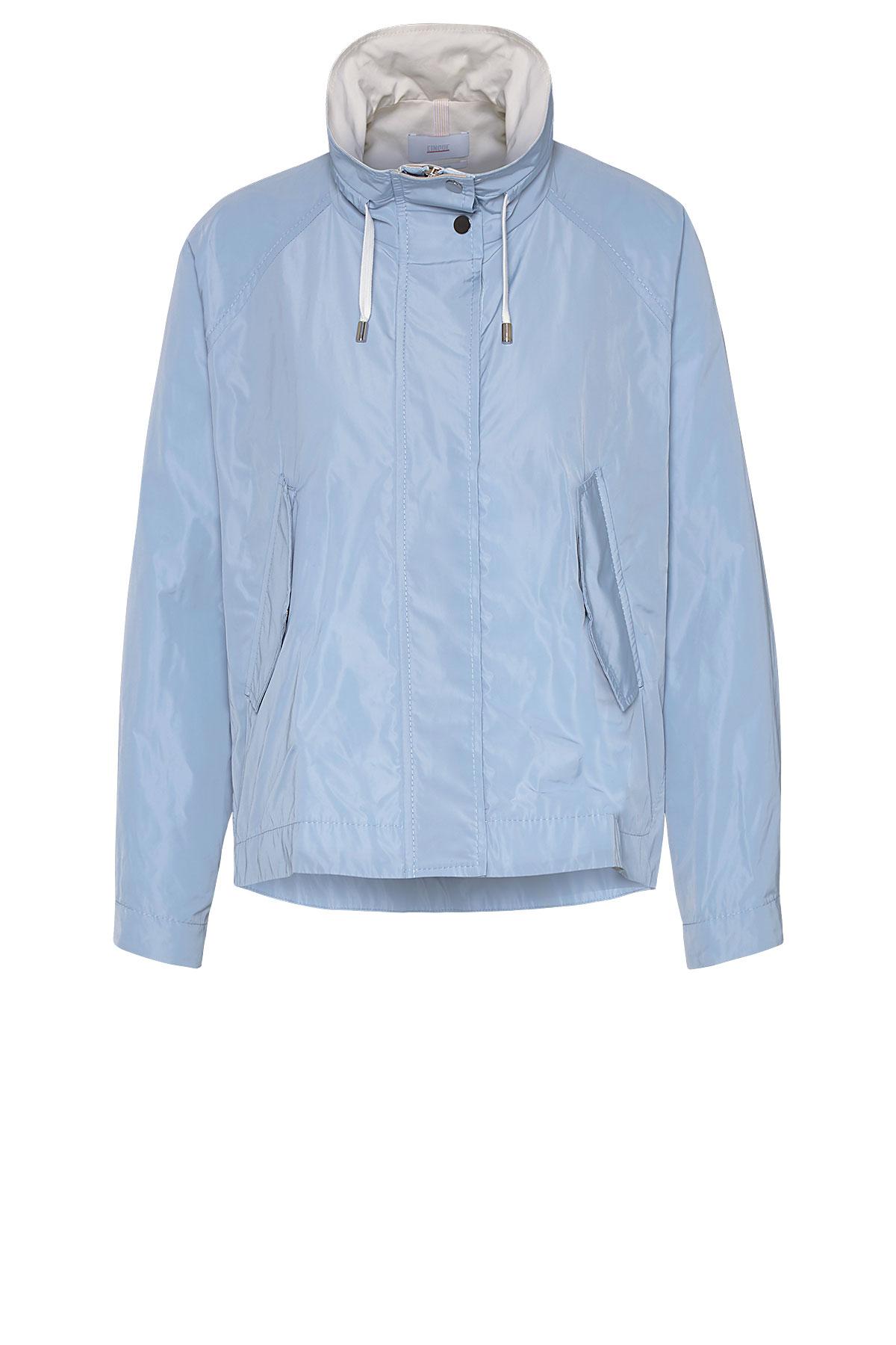 Cinque Jacke mit Stehkragen blau