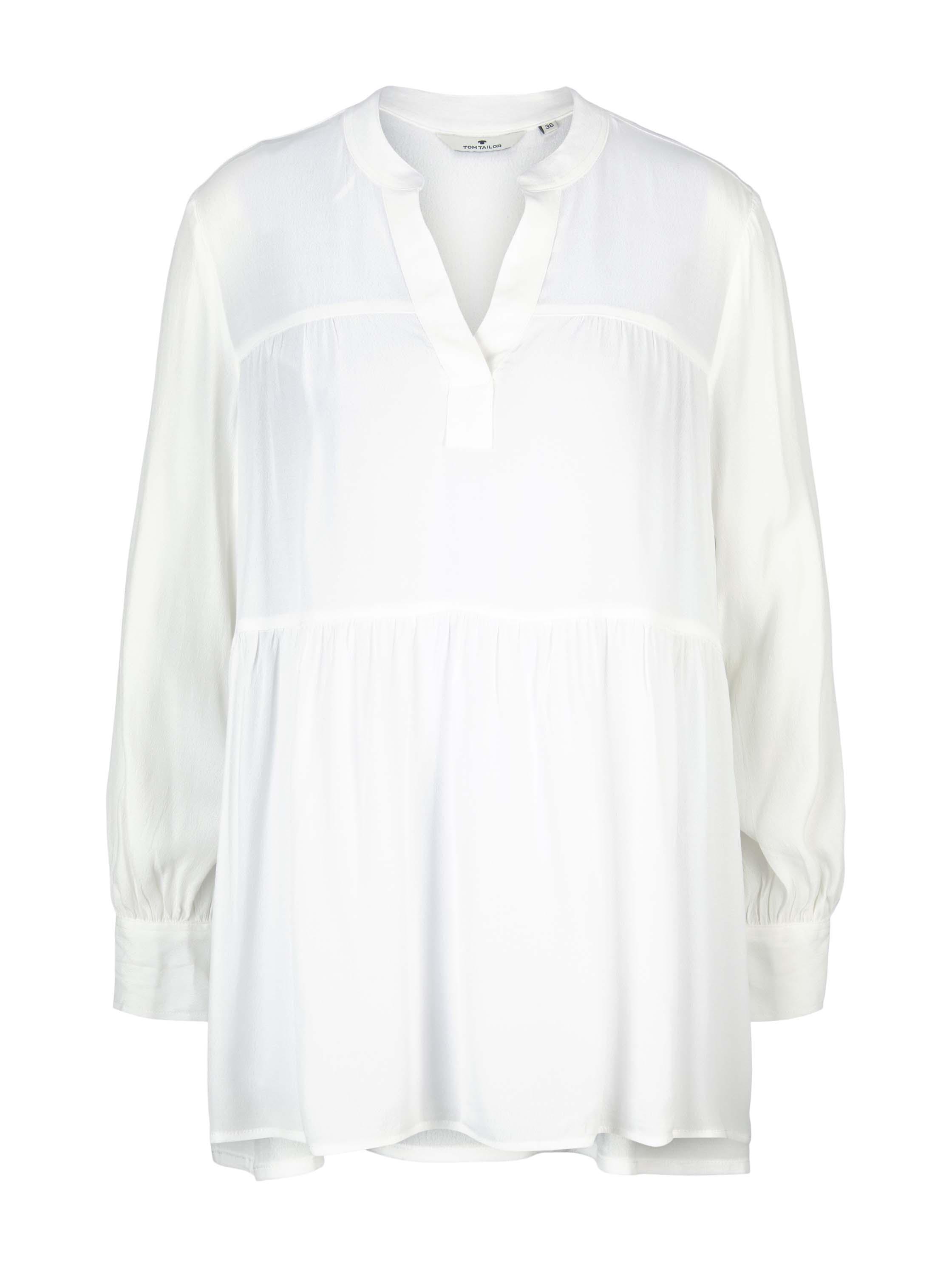 Tom Tailor Bluse im Tunika-Stil weiß