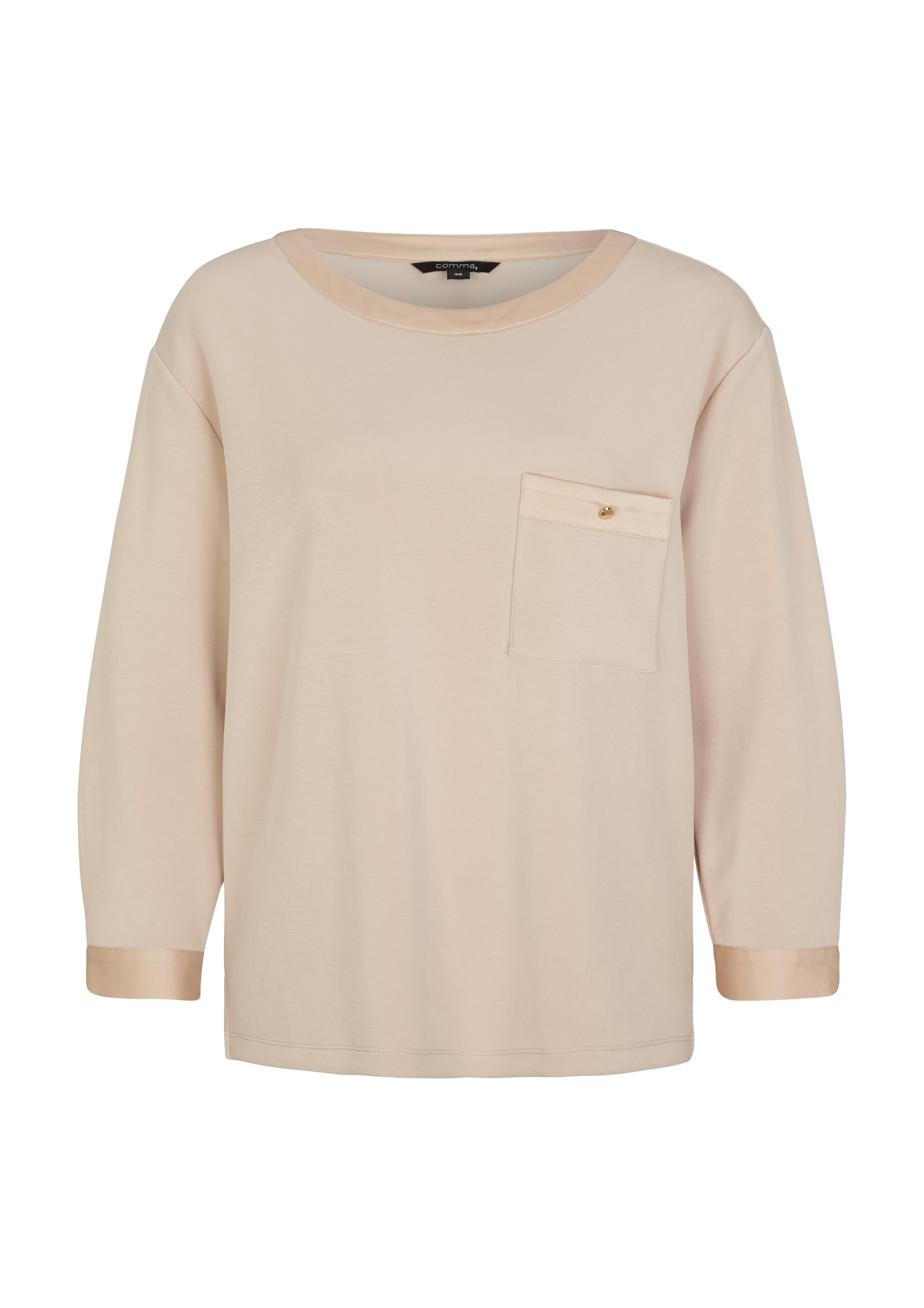 Comma Scuba-Sweatshirt beige