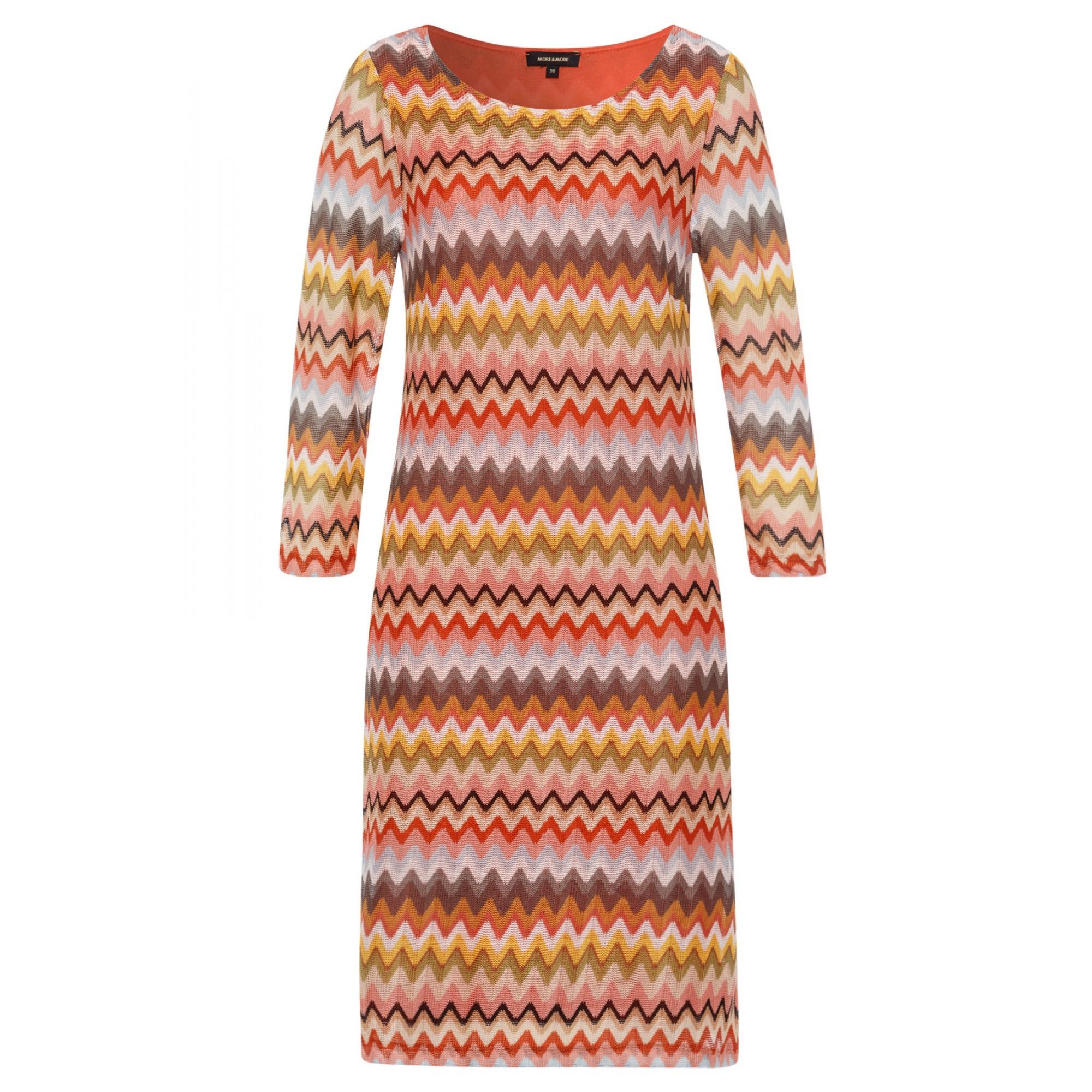 More & More Kleid mittellang gemustert beige